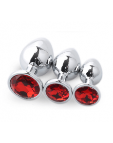 SET PLUG METAL DIAMOND ROJO