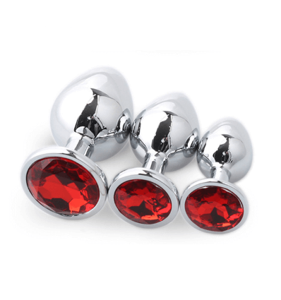 SET PLUG METAL DIAMOND ROJO  - 1