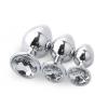 SET PLUG METAL DIAMOND TRANSPARENTE  - 1