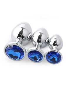 SET PLUG METAL DIAMOND AZUL  - 1