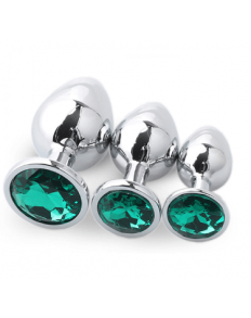 SET PLUG METAL DIAMOND VERDE