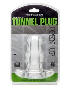 PLUG ANAL DOUBLE TUNNEL PLUG MEDIUM TRANSPARENTE  - 1